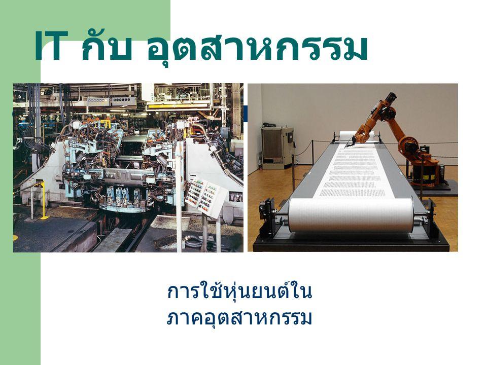 การใช้หุ่นยนต์ในภาคอุตสาหกรรม