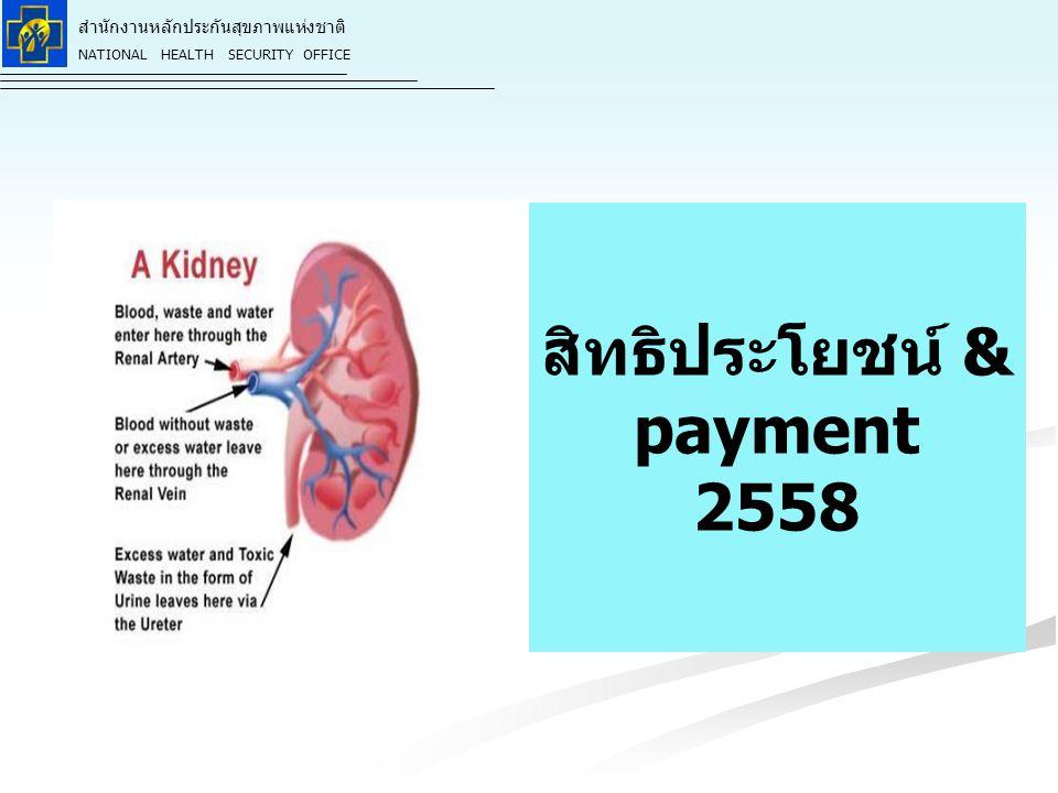 สิทธิประโยชน์ & payment 2558