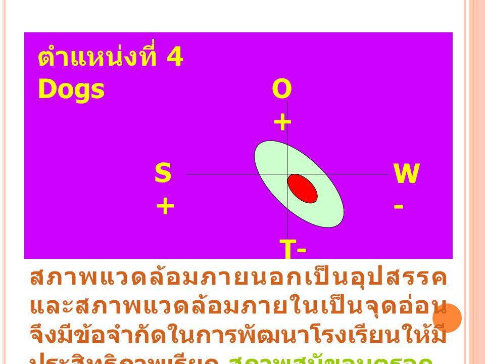 ตำแหน่งที่ 4 Dogs O + S + W - T-