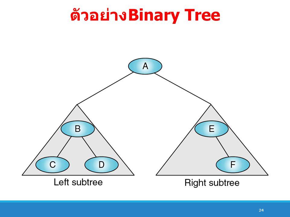 ตัวอย่าง Binary Tree