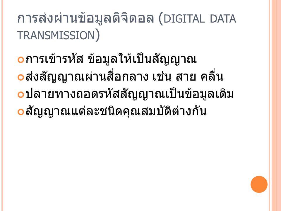 การส่งผ่านข้อมูลดิจิตอล (digital data transmission)