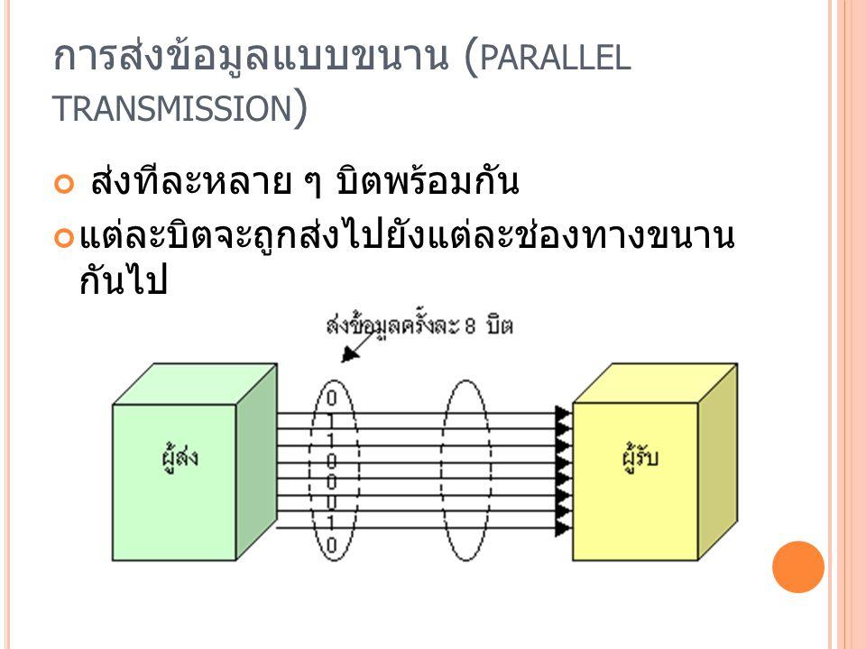 การส่งข้อมูลแบบขนาน (parallel transmission)
