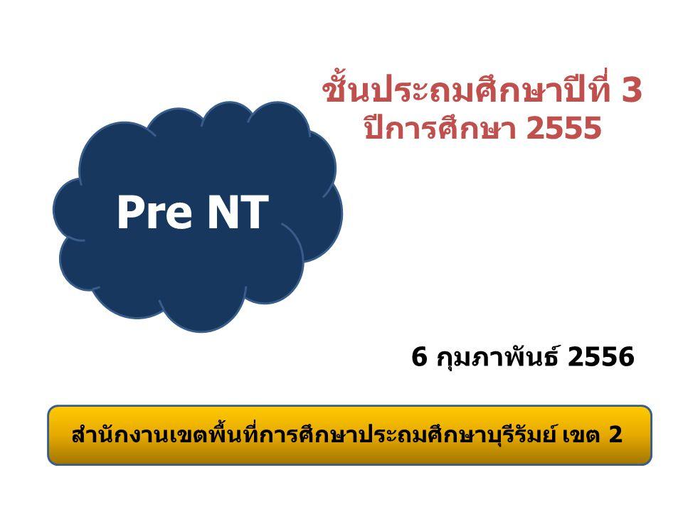 ชั้นประถมศึกษาปีที่ 3 Pre NT