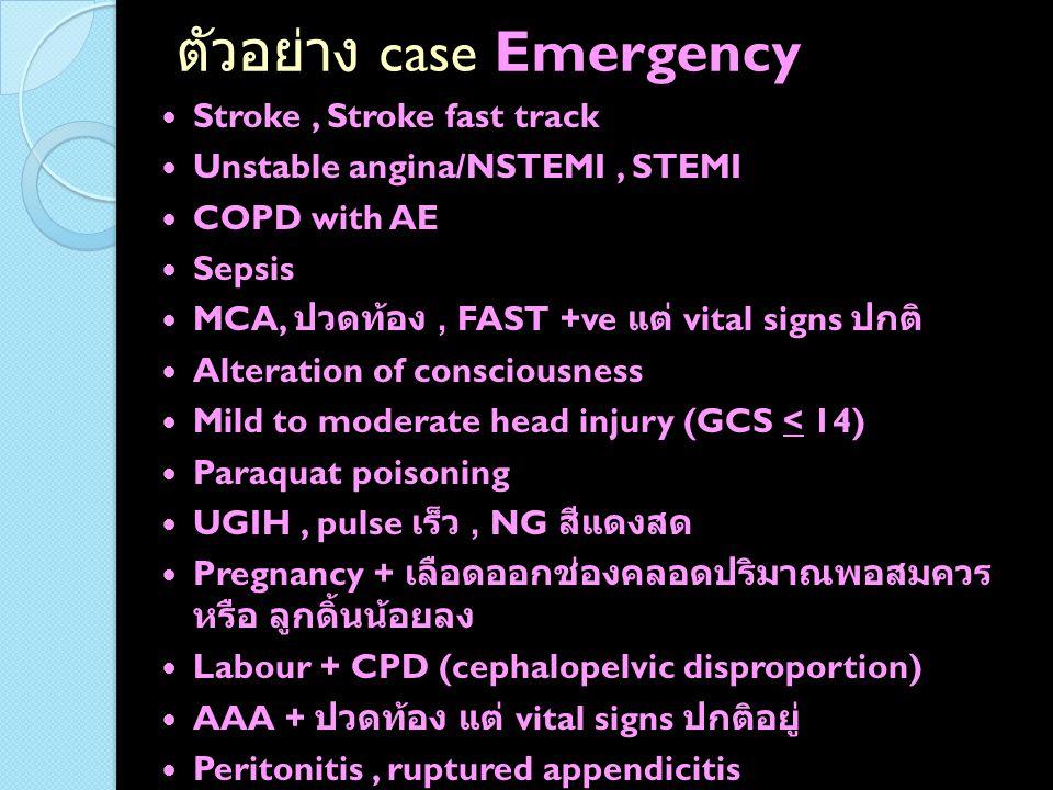 ตัวอย่าง case Emergency