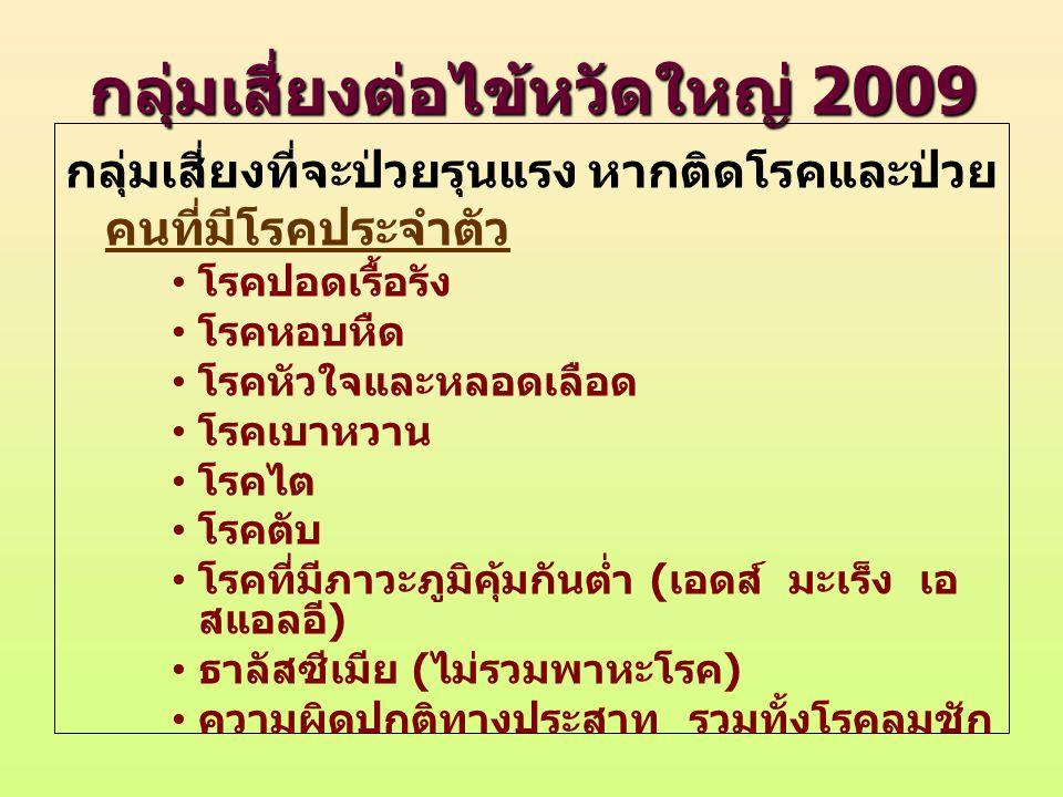 กลุ่มเสี่ยงต่อไข้หวัดใหญ่ 2009