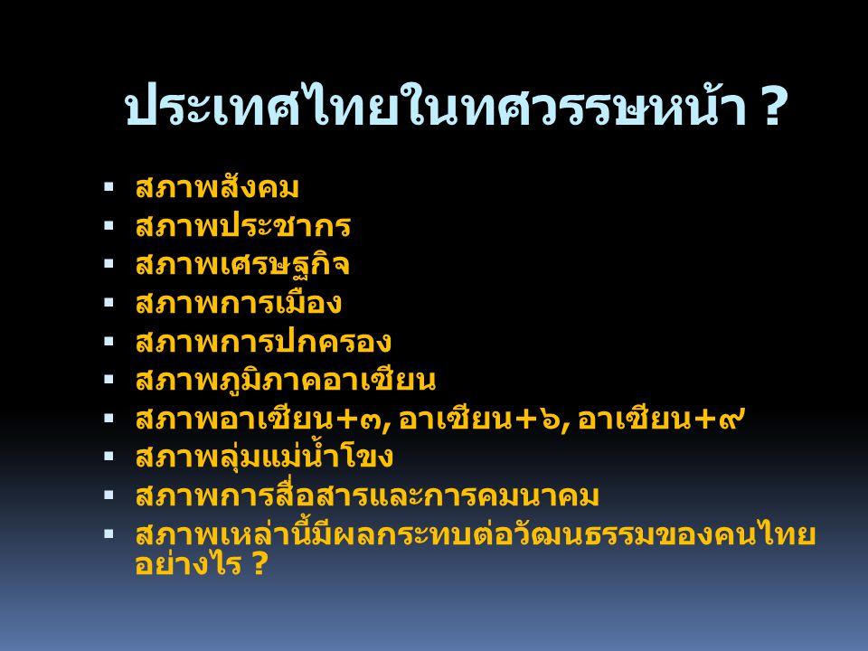 ประเทศไทยในทศวรรษหน้า