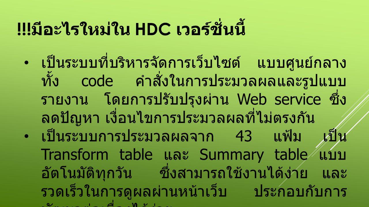 !!!มีอะไรใหม่ใน HDC เวอร์ชั่นนี้