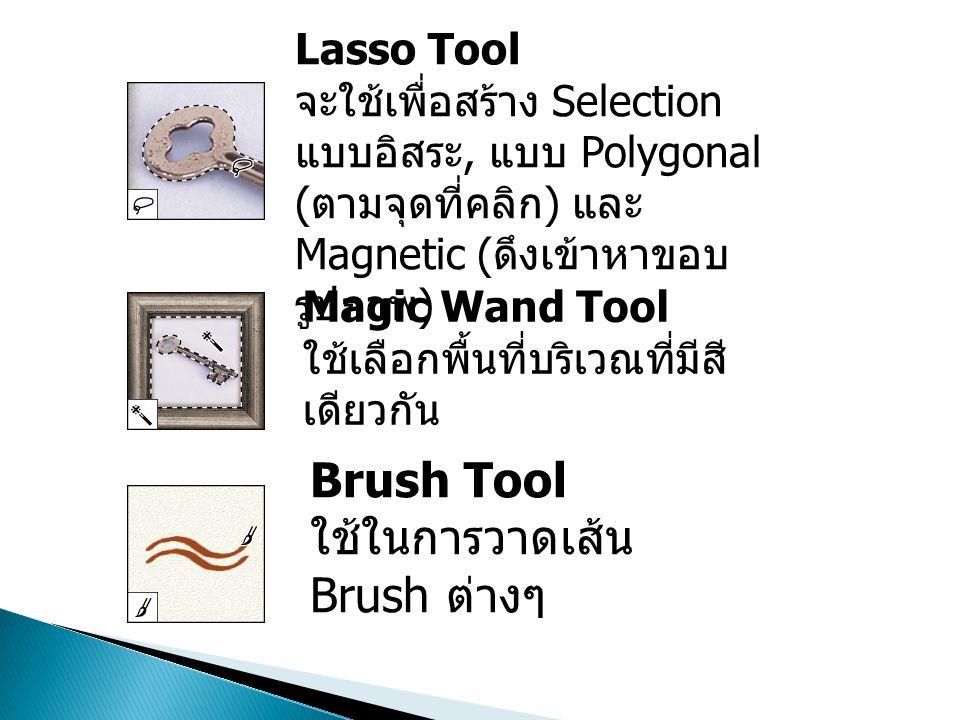 ใช้ในการวาดเส้น Brush ต่างๆ