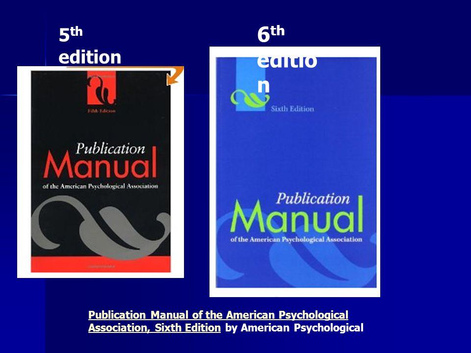 5th edition 6th edition.