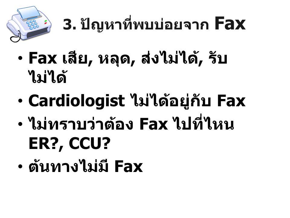 3. ปัญหาที่พบบ่อยจาก Fax