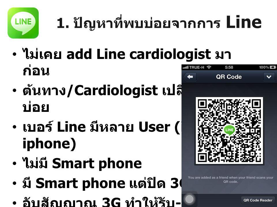 1. ปัญหาที่พบบ่อยจากการ Line