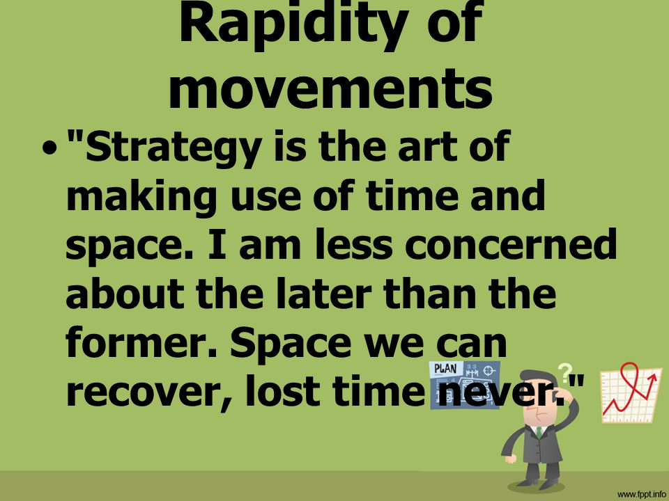Rapidity of movements