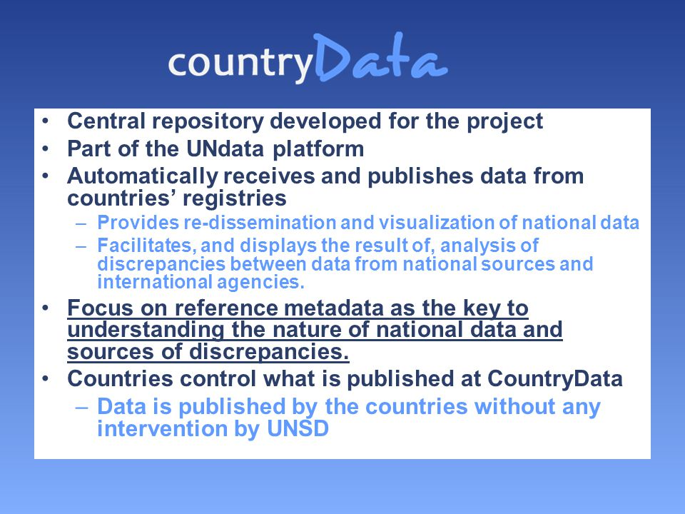 Central repository developed for the project