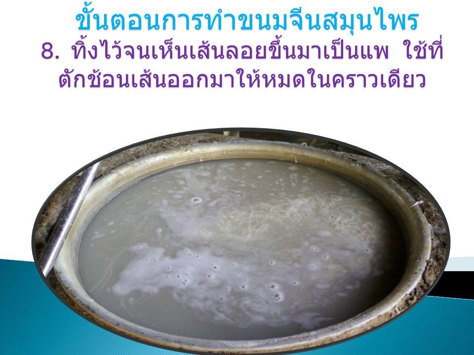ขั้นตอนการทำขนมจีนสมุนไพร 8