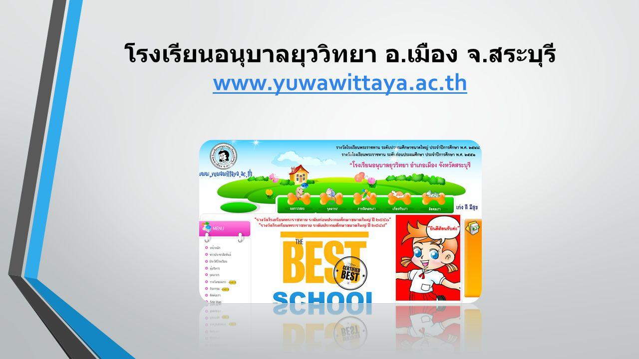 โรงเรียนอนุบาลยุววิทยา อ.เมือง จ.สระบุรี www.yuwawittaya.ac.th