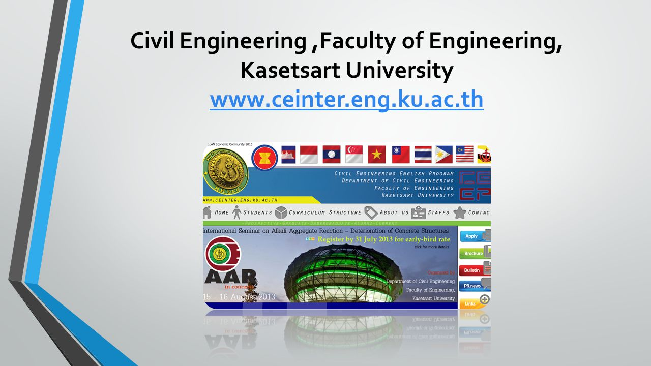 Civil Engineering ,Faculty of Engineering, Kasetsart University www