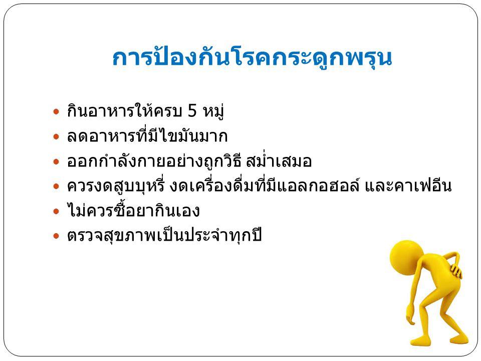 การป้องกันโรคกระดูกพรุน