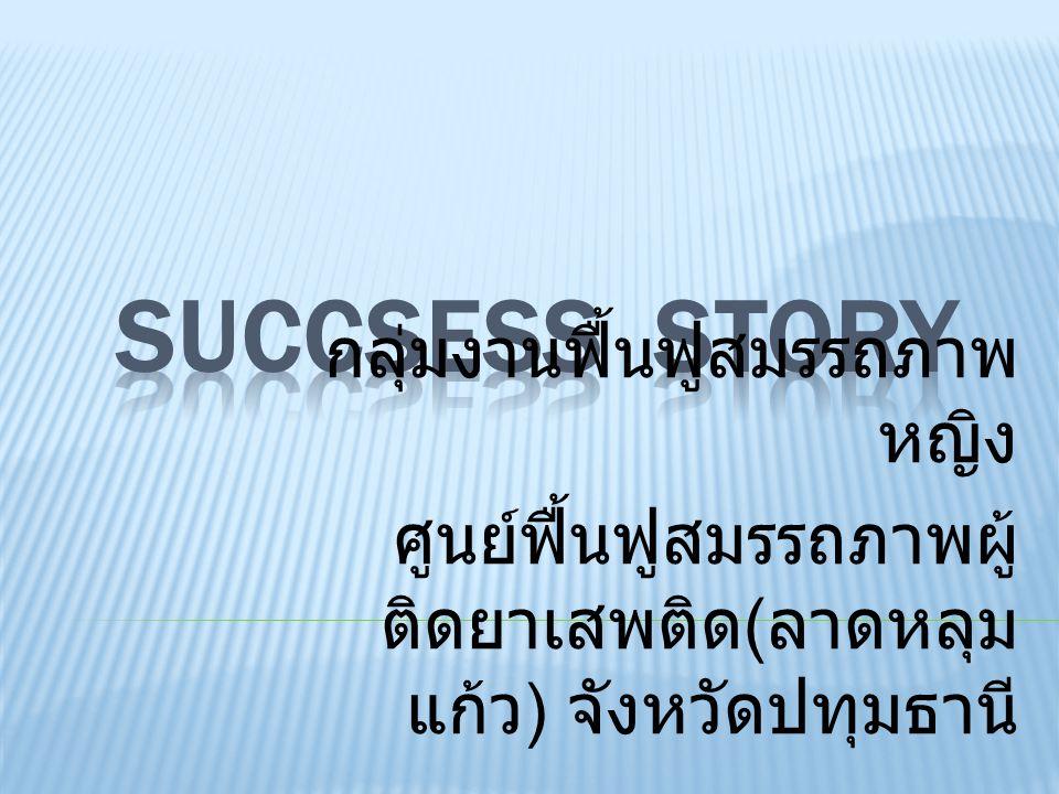 Succsess story กลุ่มงานฟื้นฟูสมรรถภาพหญิง