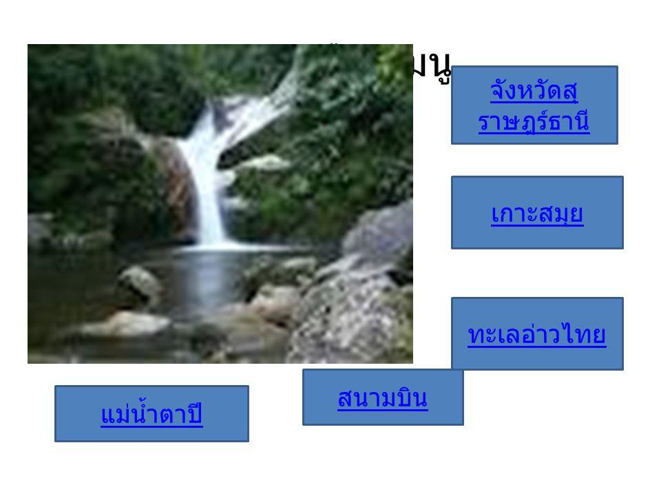 กรุณาเลือกเมนู จังหวัดสุราษฎร์ธานี เกาะสมุย ทะเลอ่าวไทย สนามบิน