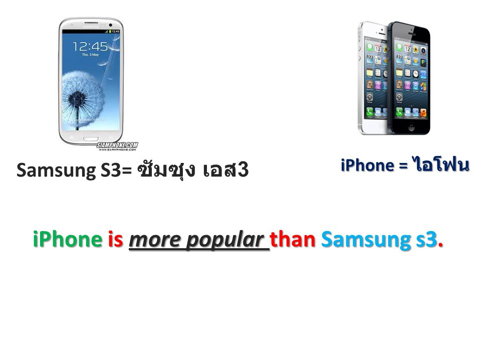 iPhone is more popular than Samsung s3.