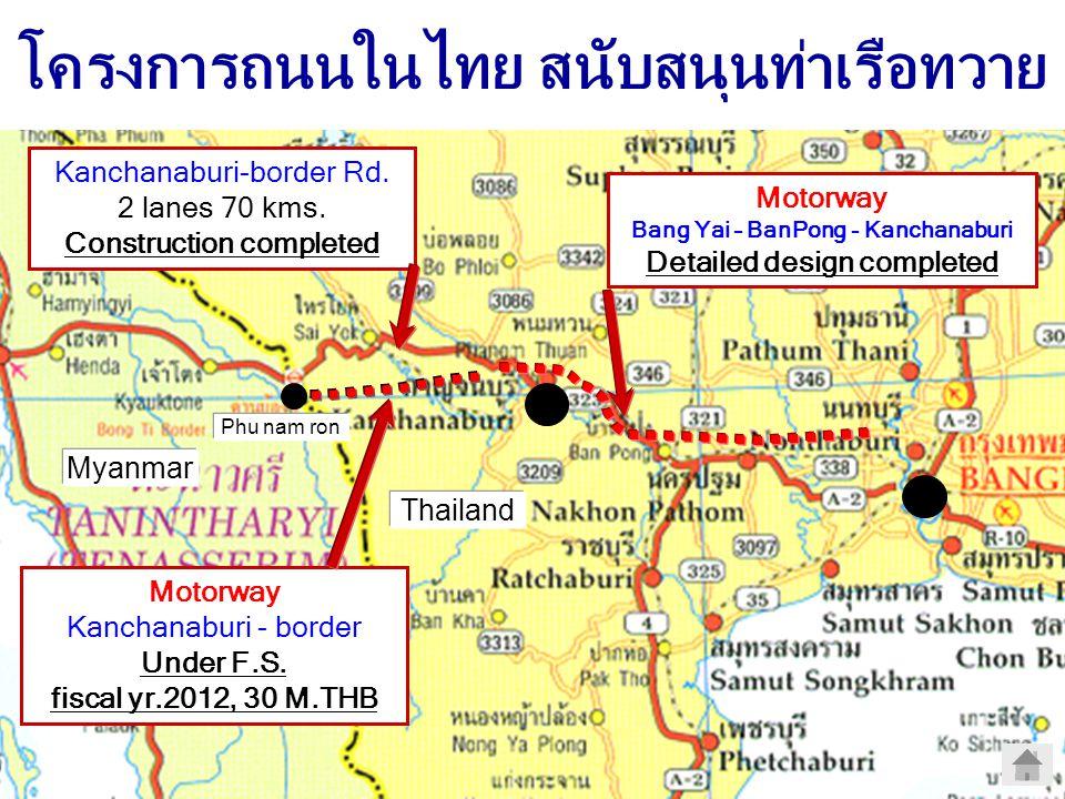 โครงการถนนในไทย สนับสนุนท่าเรือทวาย