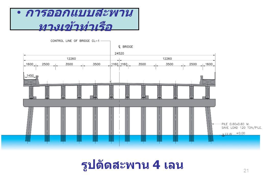 การออกแบบสะพานทางเข้าท่าเรือ