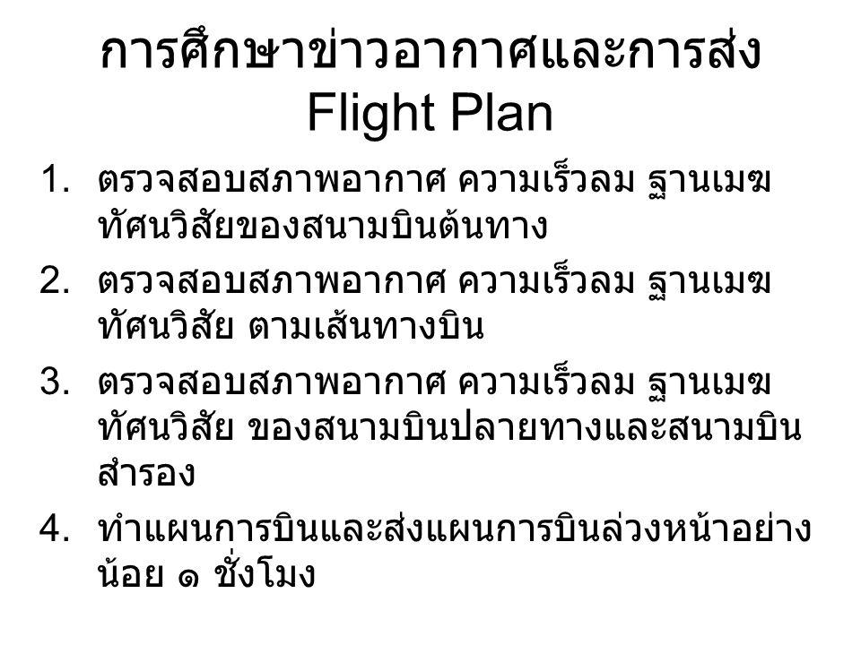 การศึกษาข่าวอากาศและการส่ง Flight Plan