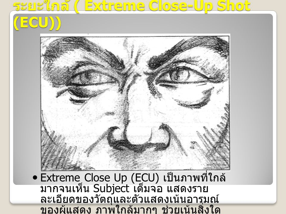 ระยะใกล้ ( Extreme Close-Up Shot (ECU))