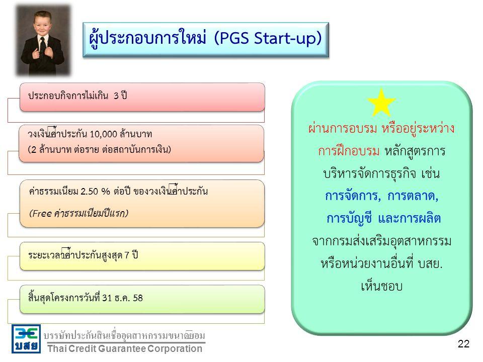 ผู้ประกอบการใหม่ (PGS Start-up)