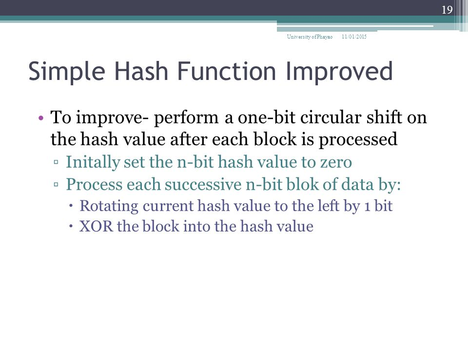 Simple Hash Function Improved