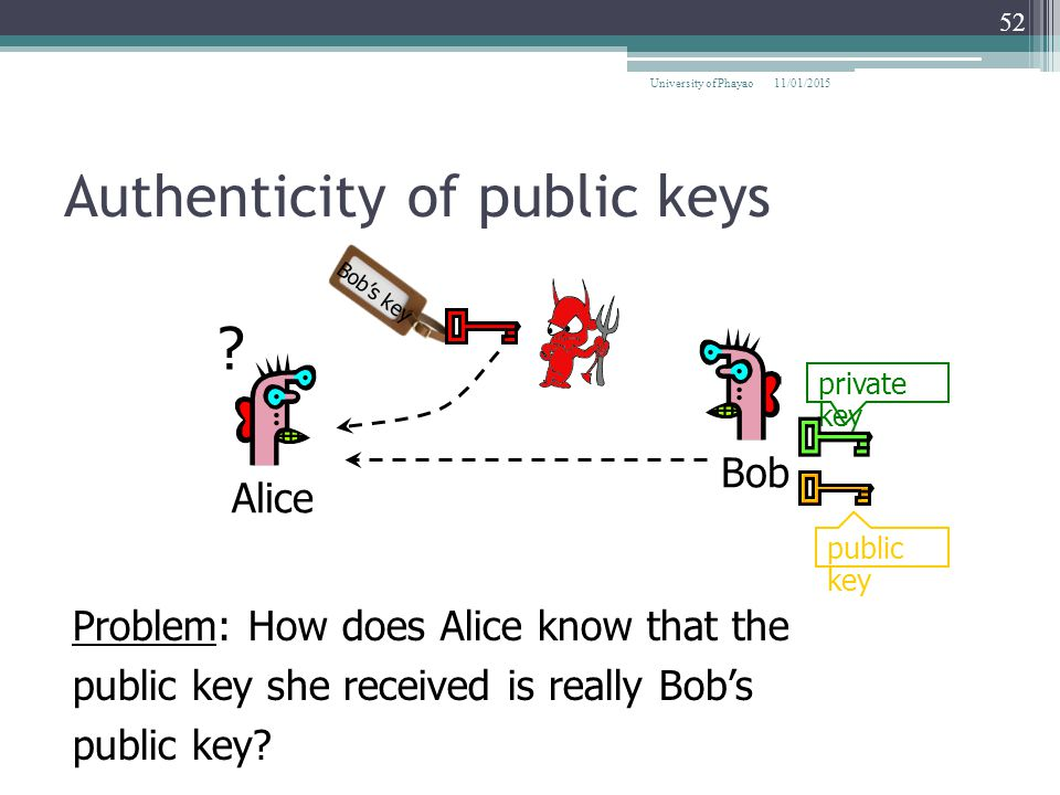 Authenticity of public keys