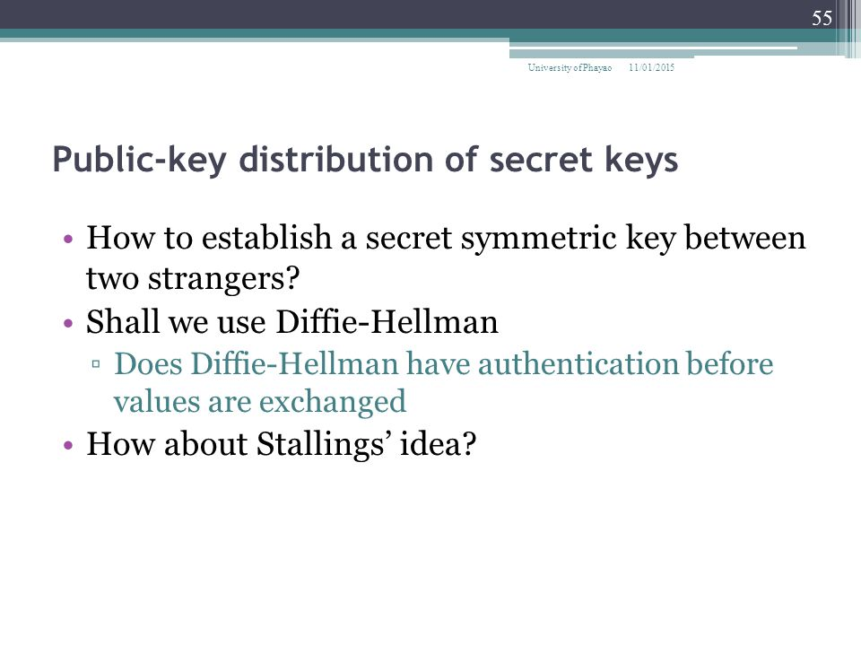 Public-key distribution of secret keys