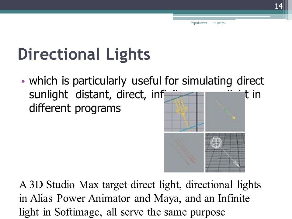 Pipatsarun 08/04/60. Directional Lights.
