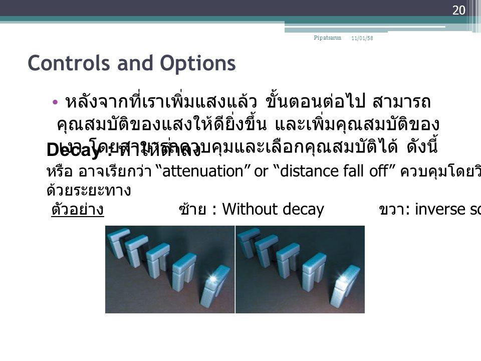 Pipatsarun 08/04/60. Controls and Options.