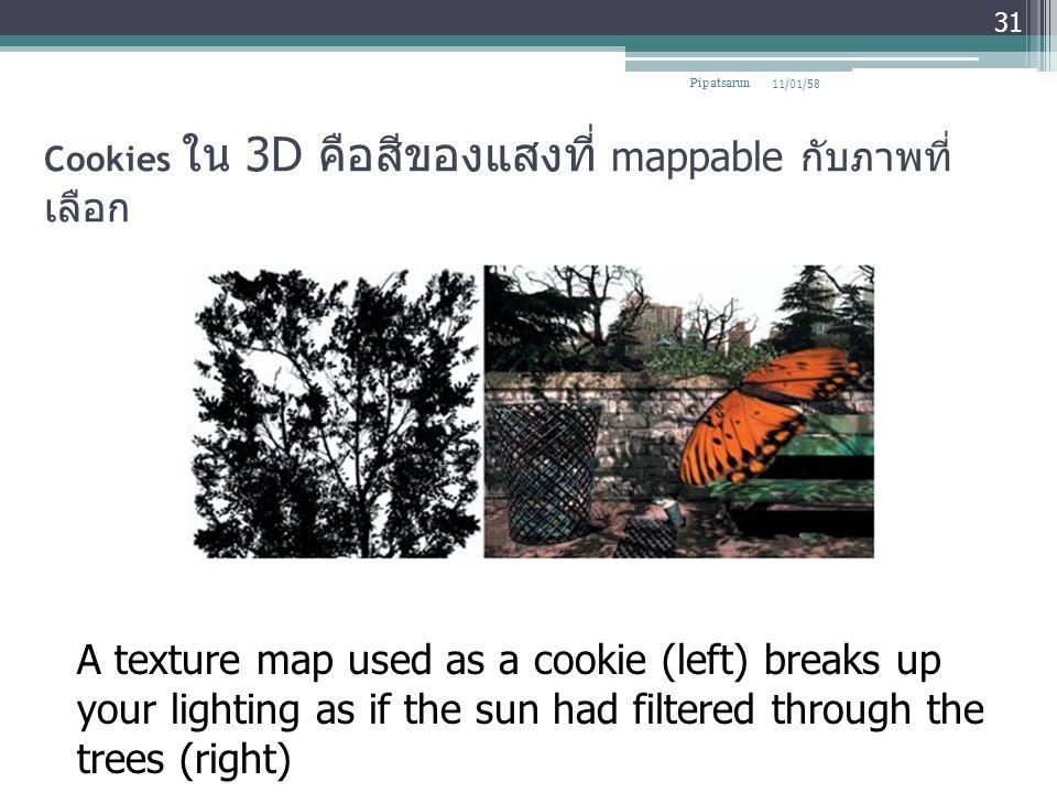 Cookies ใน 3D คือสีของแสงที่ mappable กับภาพที่เลือก