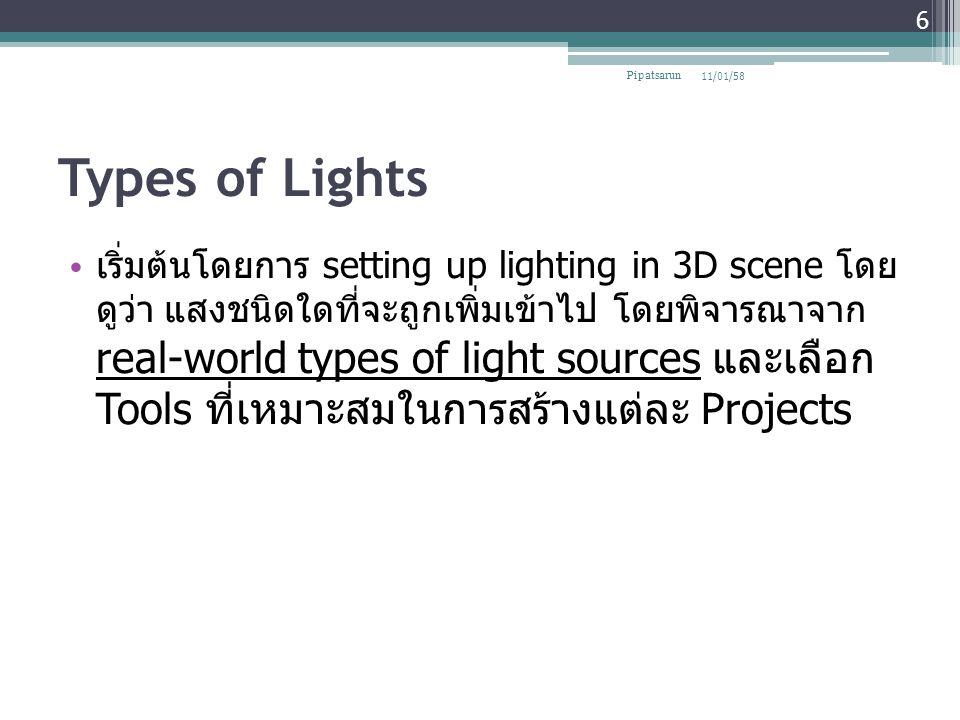 Pipatsarun 08/04/60. Types of Lights.