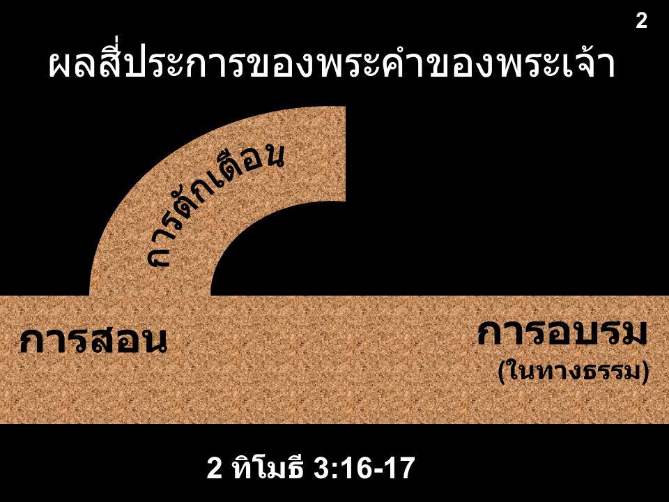 ผลสี่ประการของพระคำของพระเจ้า