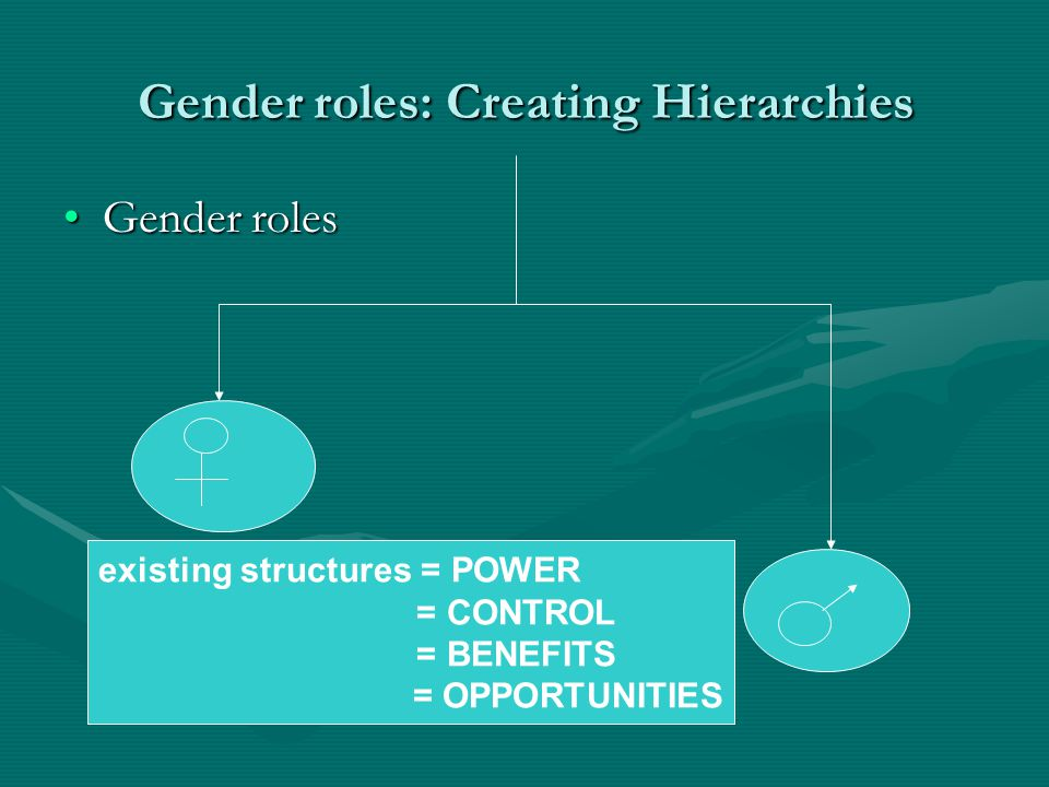 Gender roles: Creating Hierarchies