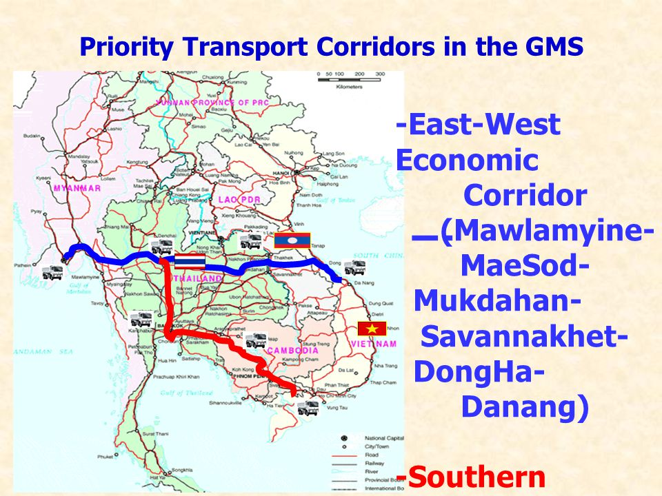 Priority Transport Corridors in the GMS
