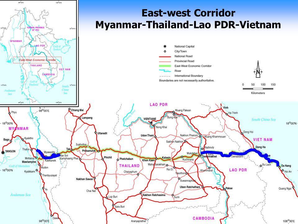 East-west Corridor Myanmar-Thailand-Lao PDR-Vietnam