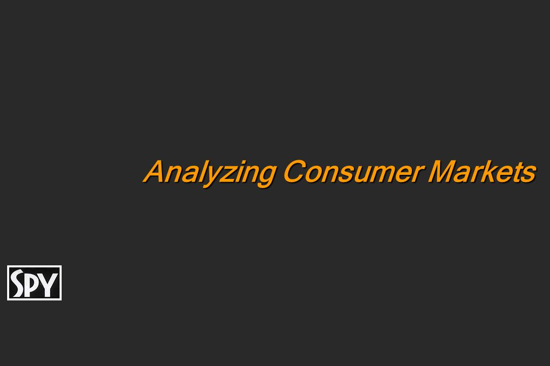Analyzing Consumer Markets