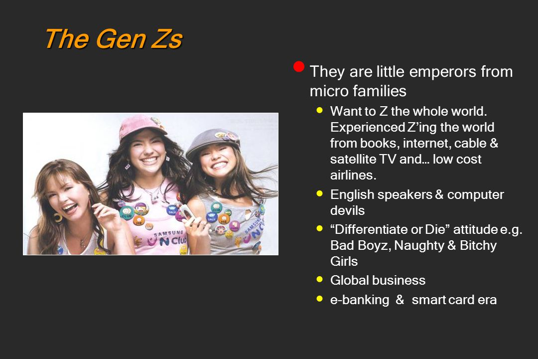 The Gen Zs They are little emperors from micro families