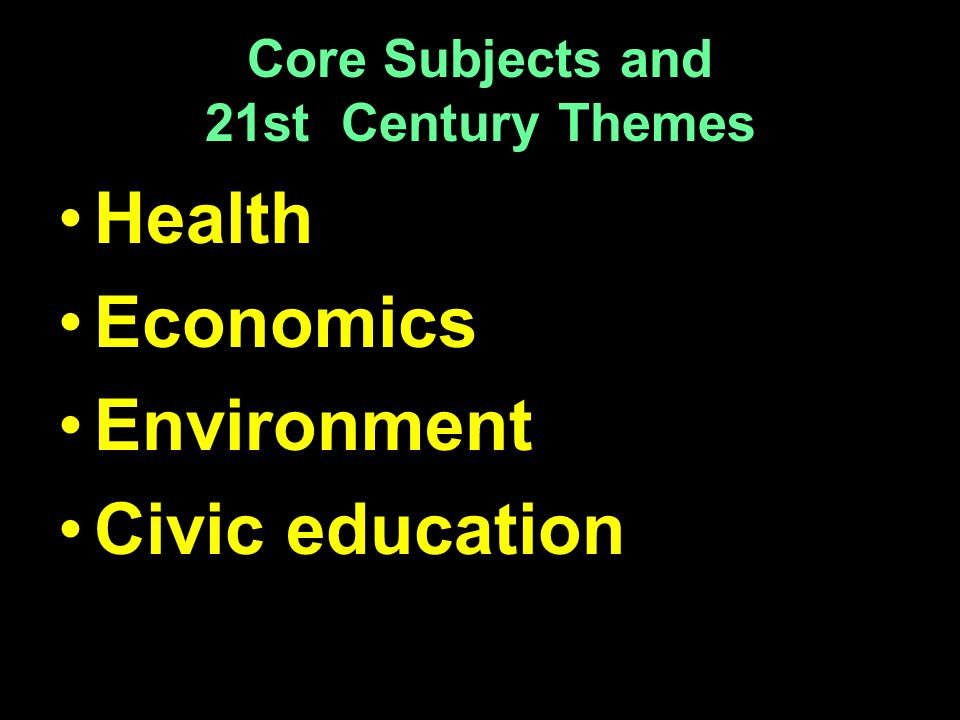 Core Subjects and 21st Century Themes