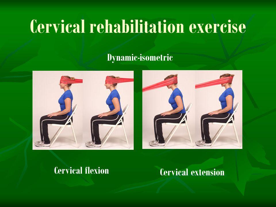 Cervical rehabilitation exercise