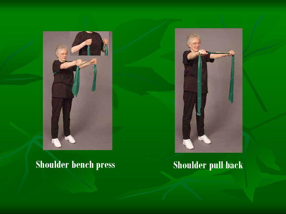 Shoulder bench press Shoulder pull back
