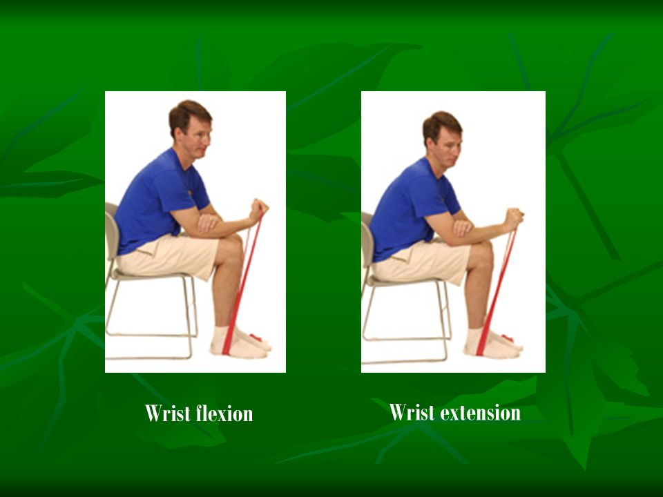 Wrist flexion Wrist extension