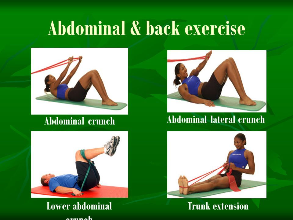 Abdominal & back exercise