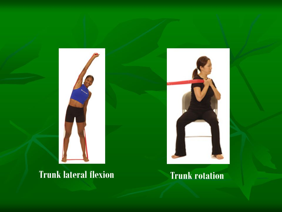Trunk lateral flexion Trunk rotation