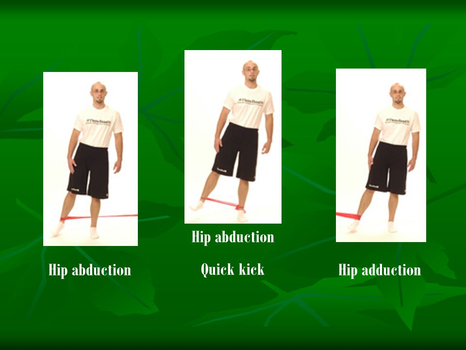 Hip abduction Quick kick Hip abduction Hip adduction