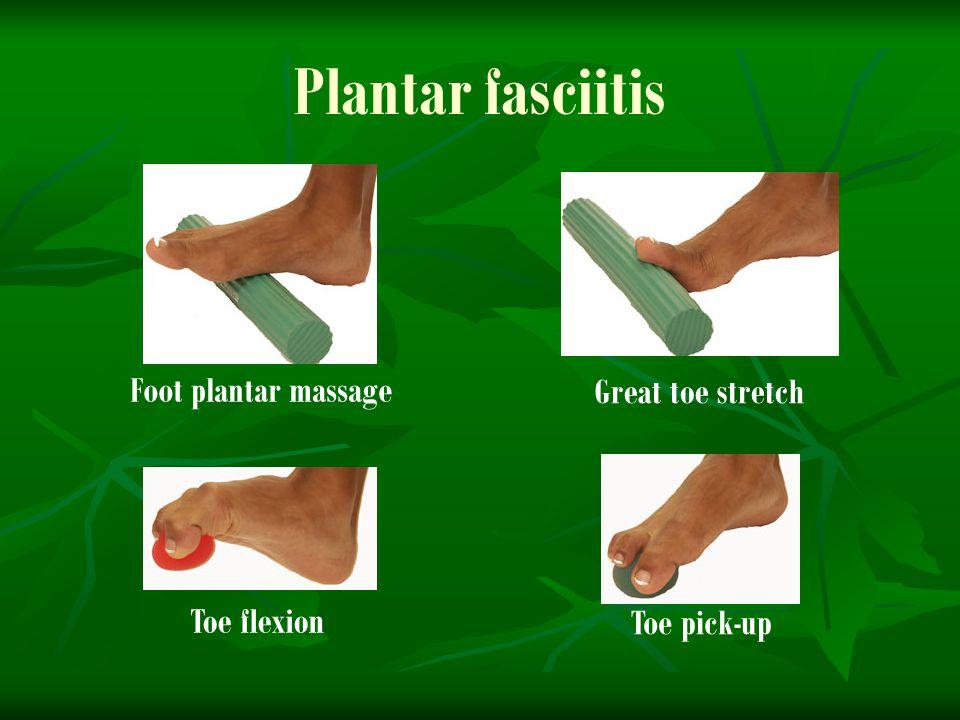 Plantar fasciitis Foot plantar massage Great toe stretch Toe flexion